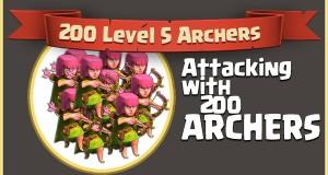 200 archers coc