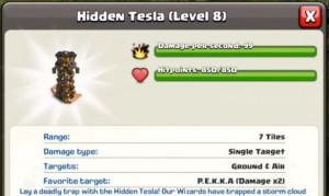 Hidden tesla level 8