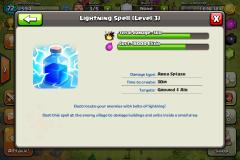 lightning spell clash of clans