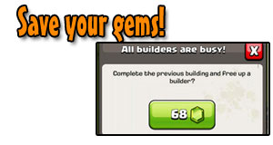 Save your gems