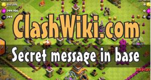 secret message in base coc