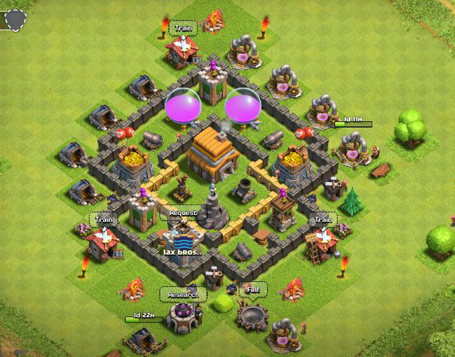 Pin th5 war best base layout on pinterest