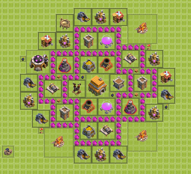 th6 clan war base design