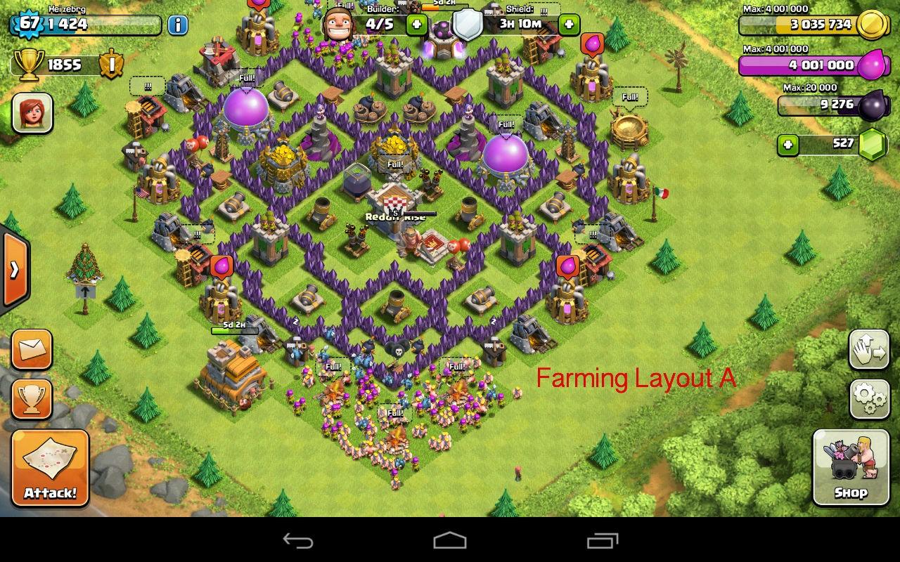 TH7 farming layout