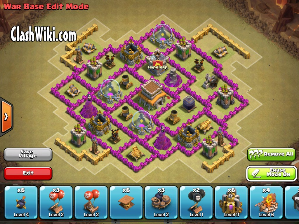 th8 clan war base no extras