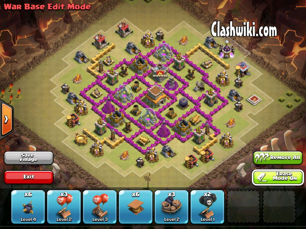 th8 clan war base no traps