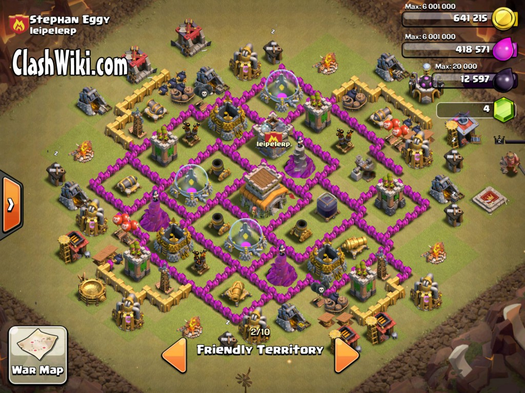 TH8 clan war layout