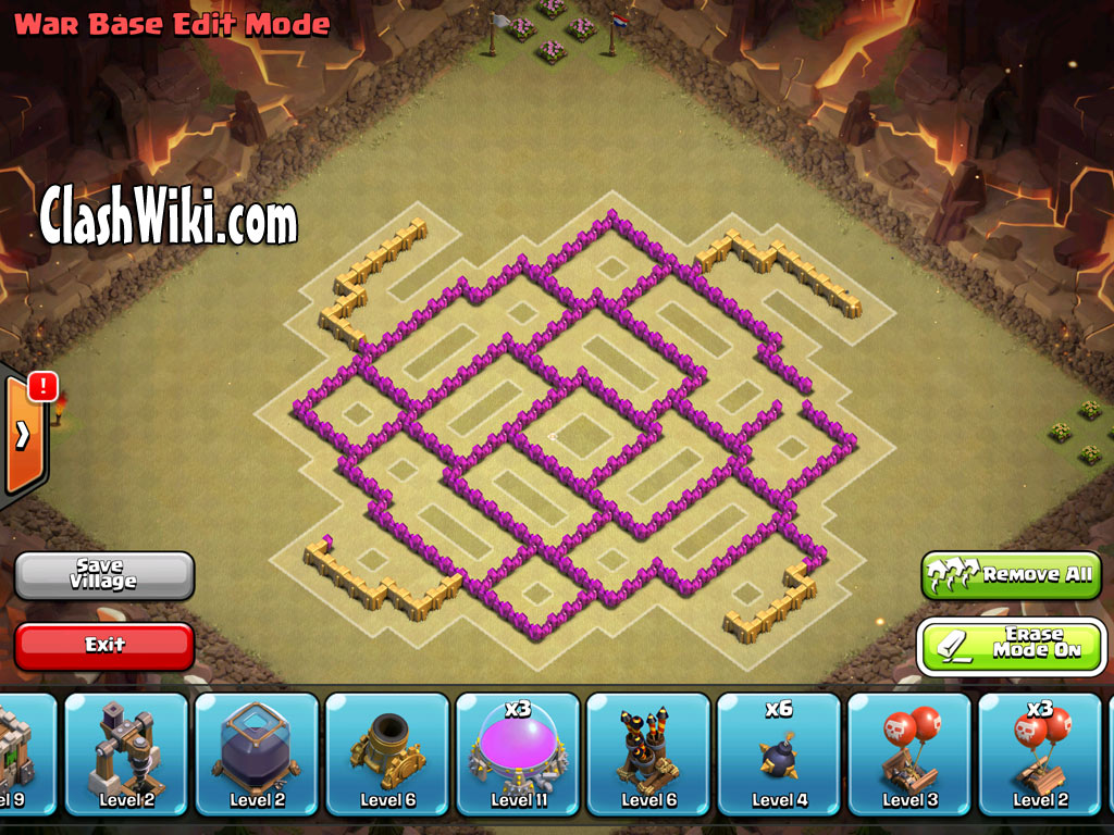 th8 clan war design no buildings