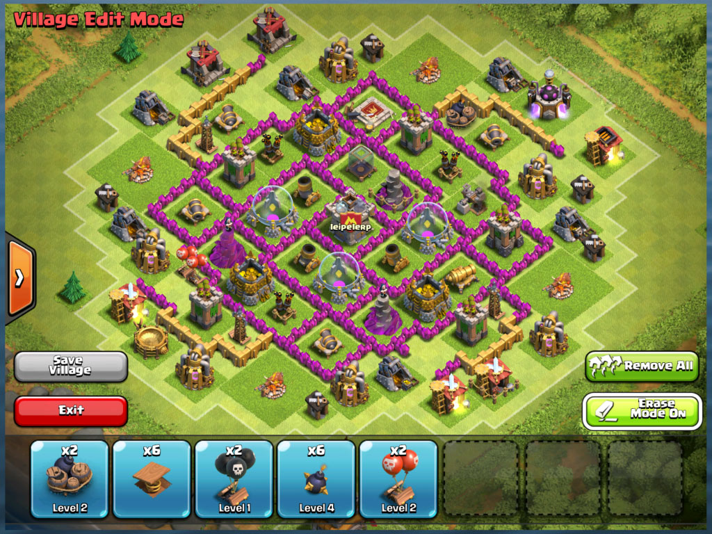 TH8 Farming Base Layout no traps
