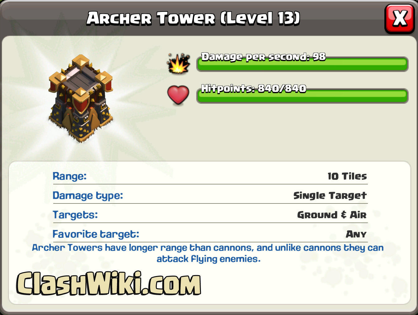 coc archer lvl 13