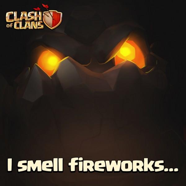 I smell fireworks...