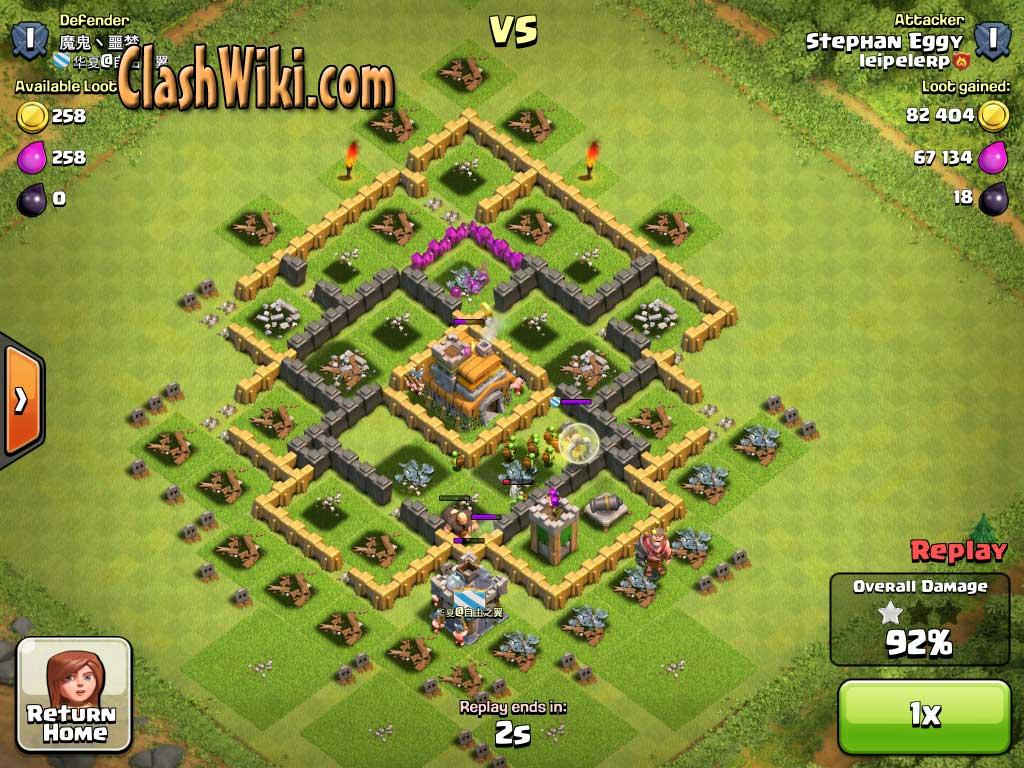 Raided village