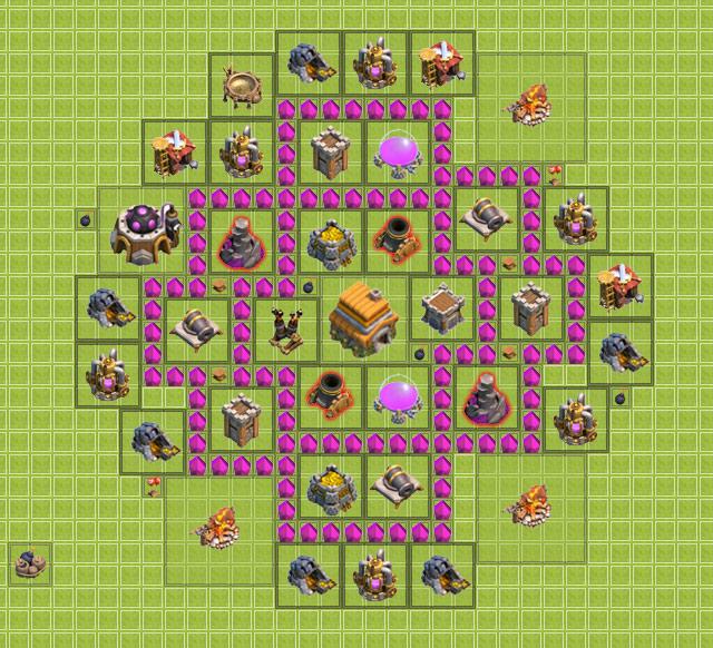th6 clan war base design