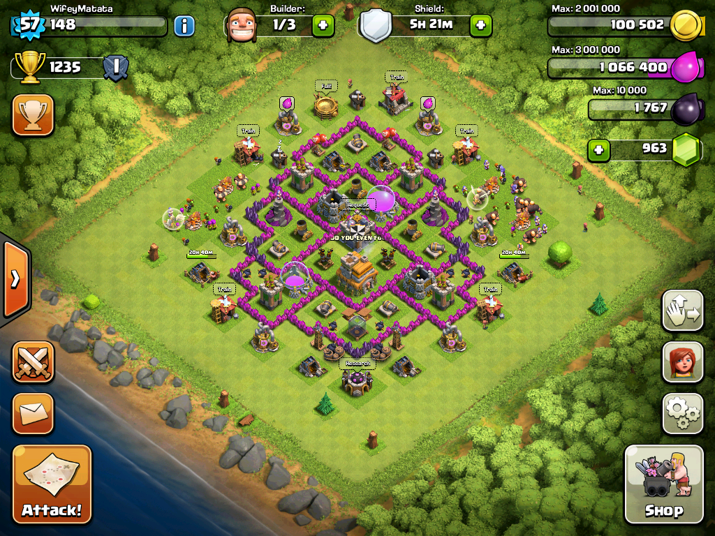 TH7 Clan War Base Design