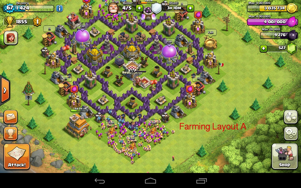 TH7 farming layout