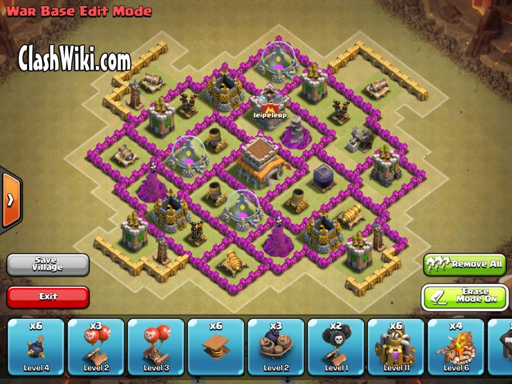 th8 clan war base no extras