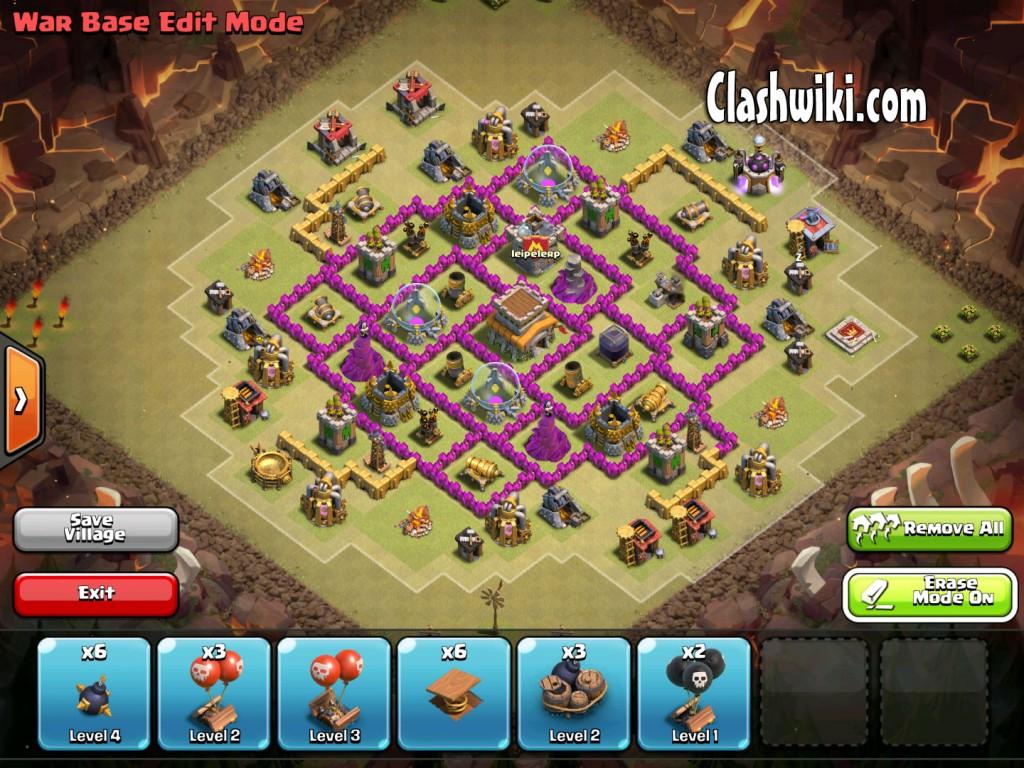 th8 clan war base no traps