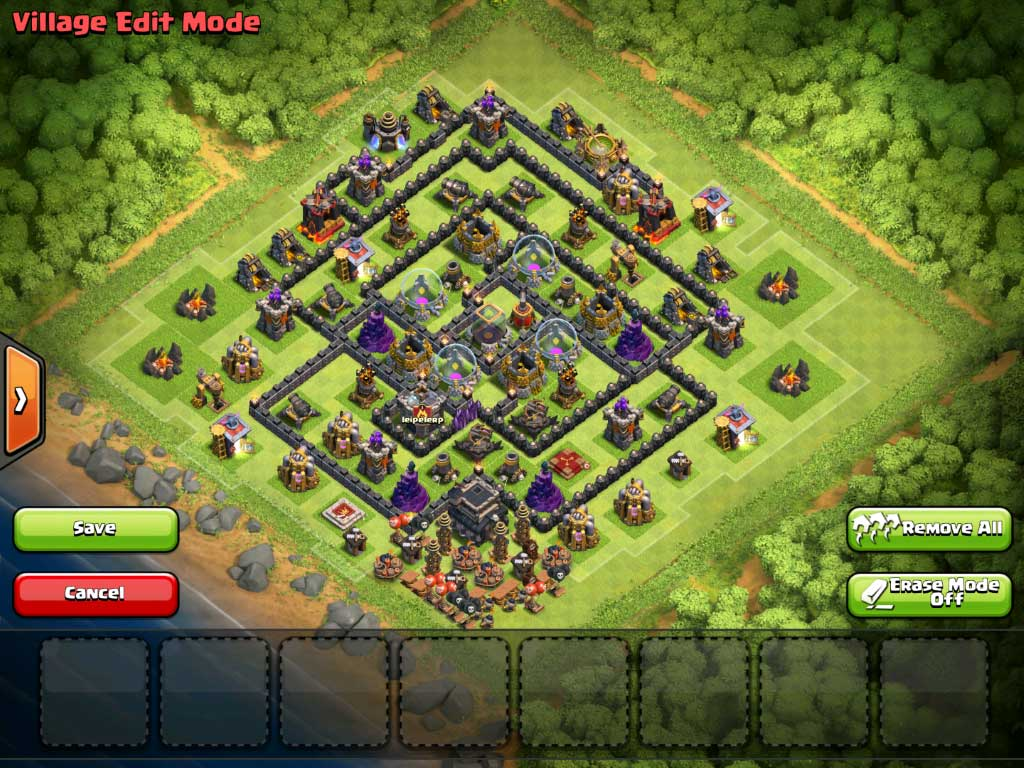 Clash of clans trap base layout