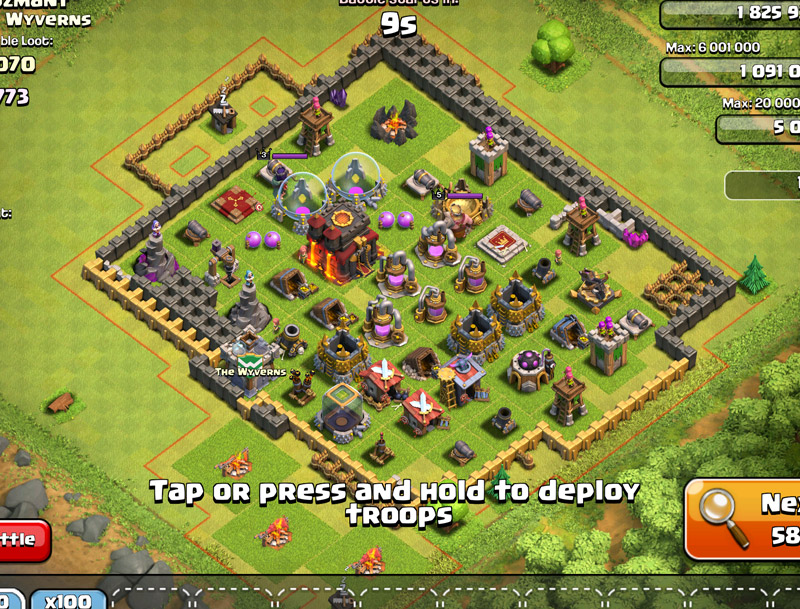 typical rushed base