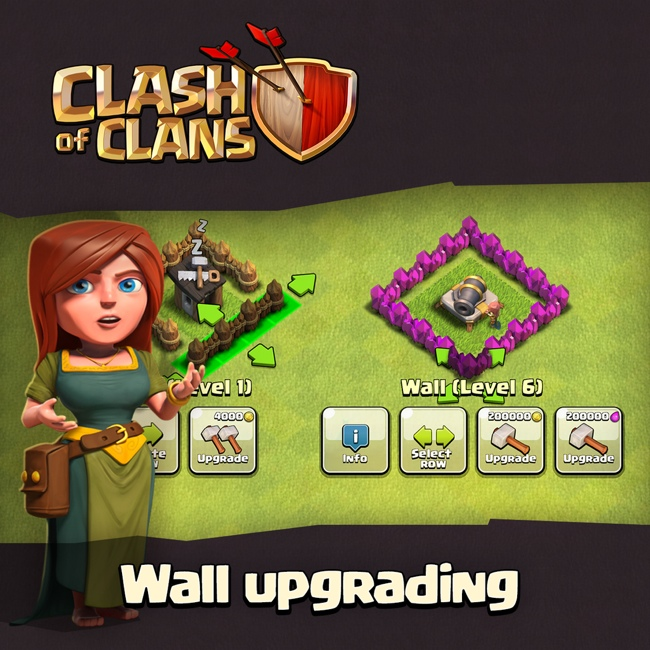 Upgrade walls with elixir